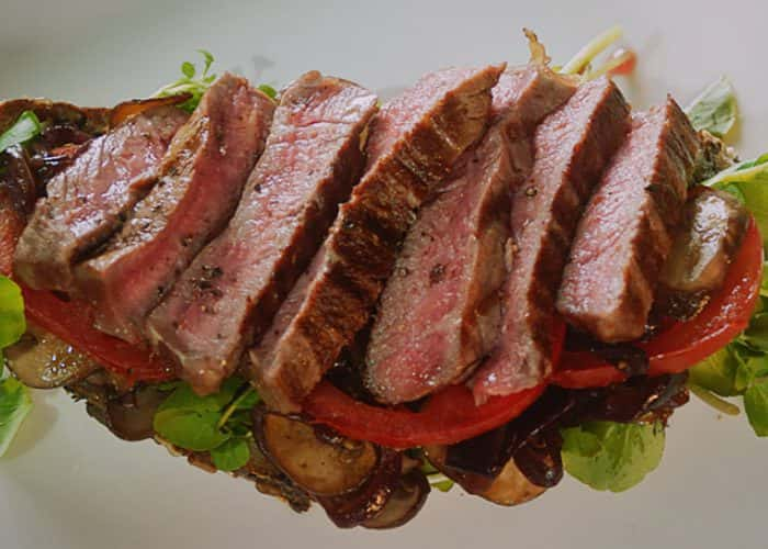 Open Beef Steak Sandwich